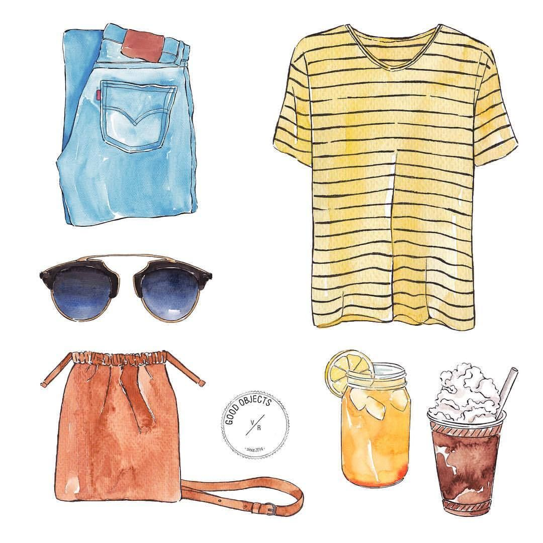 Good objects - ☀️☀️☀️ #goodobjects #watercolor #illustration