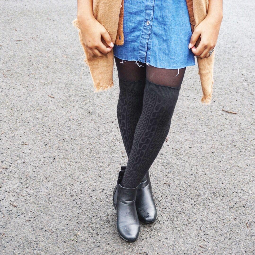 Loving over the knee socks! Fall/Winter essential!