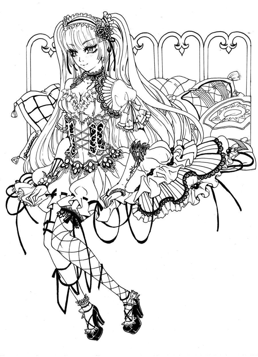 Ausmalbilder Anime Katzen Mädchen : Steampunk Coloring Page Coloriage Manga Pinterest Anime Und