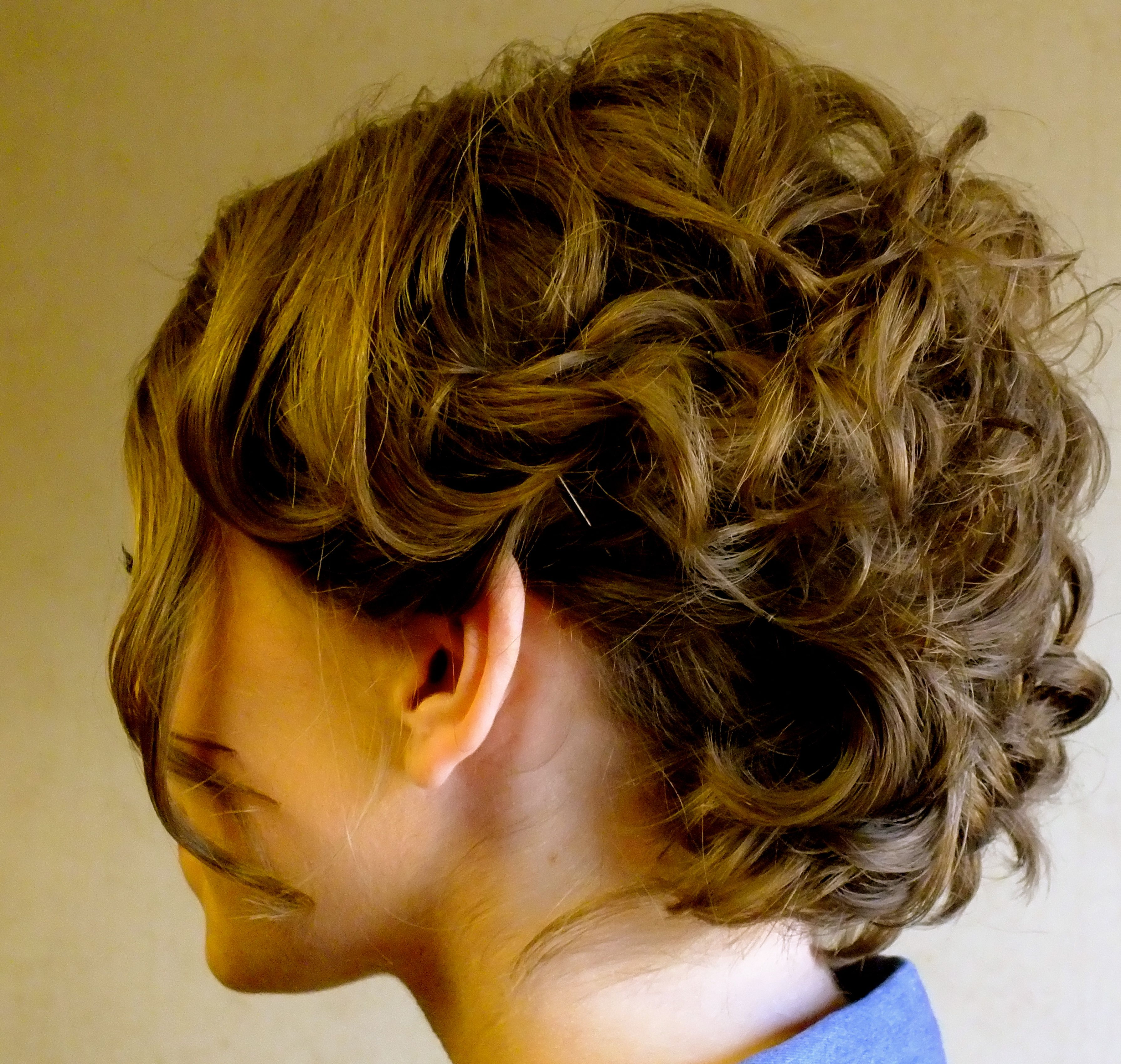 turned a short bob into an updo! (With images) | Hair ...