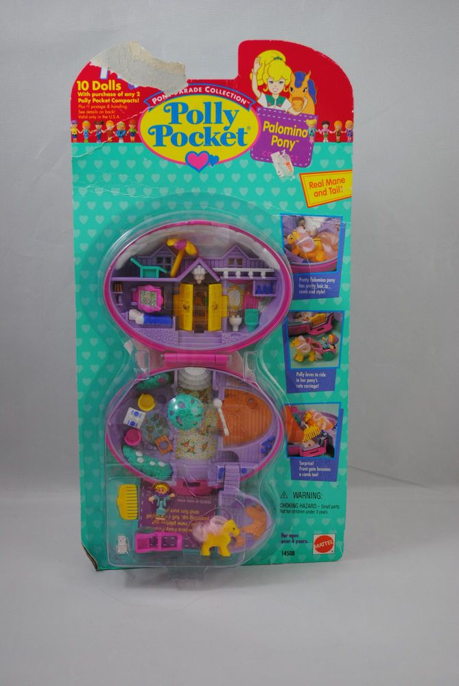 Polly Pockets For Sale: Vintage 1995 Polly Pocket Palomino Pony Pink Compact