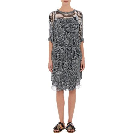 Isabel Marant Étoile Abstract-Stripe Danbury Dress at Barneys.com