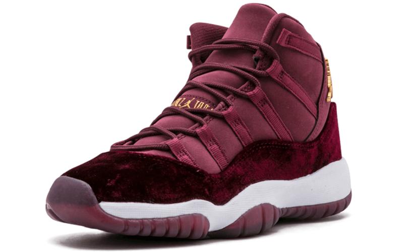 Nike Air Jordan 11 Retro Heiress Velvet RL GG LTD RARITÄT Basketballschuhe  Sneaker weinrot/gold/weiß – Bild 2