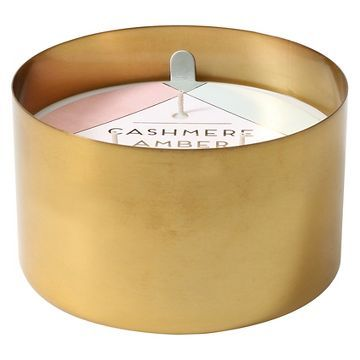 Scented Jar Candle Gold Cashmere Amber Candle jars