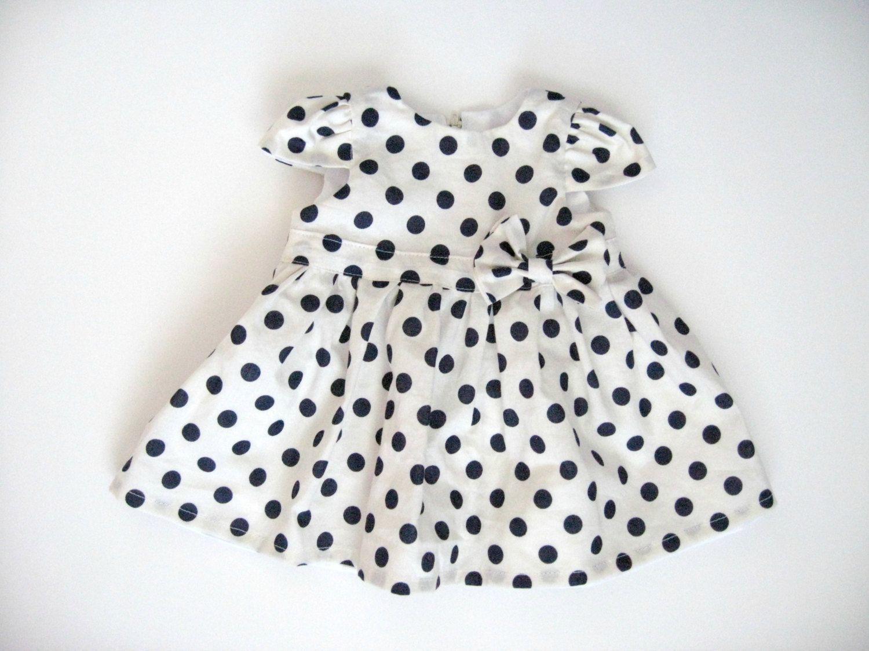 White polka dot baby dress cap sleeve dress baby by lucylemonshop