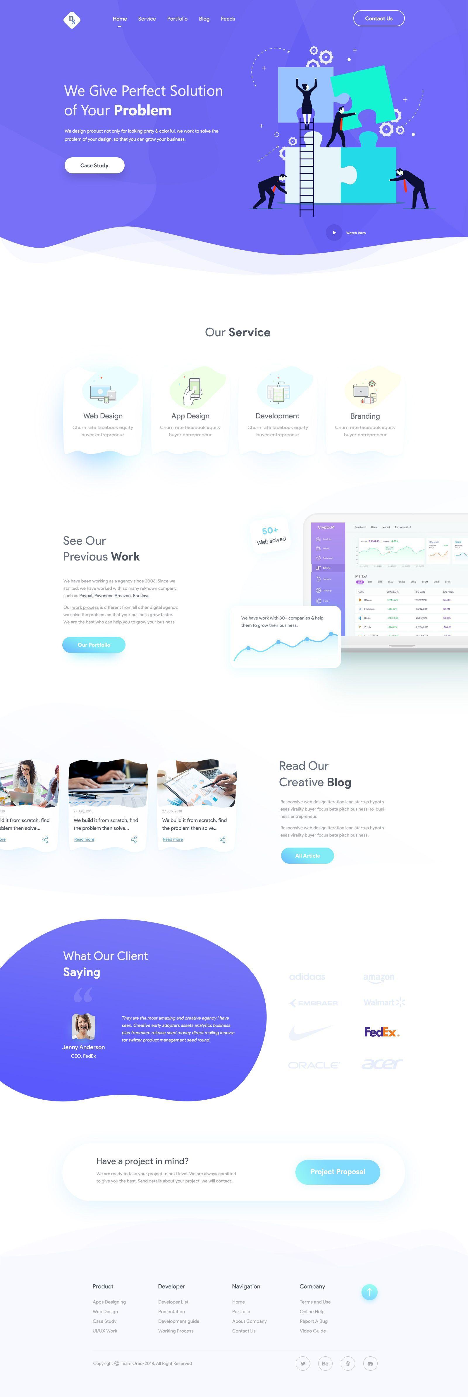 Ds Agency2 Jpg By Ariful Islam In 2020 Website Design Layout Web App Design App Design Inspiration