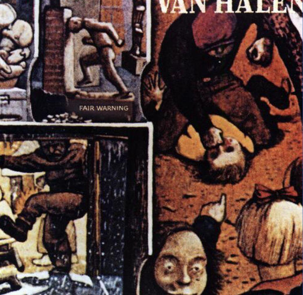 Unchained Van Halen Fair Warning Rock Album Covers Van Halen