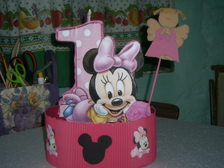 centros de mesa minnie bebe | cumpleaños infantiles | Pinterest ...
