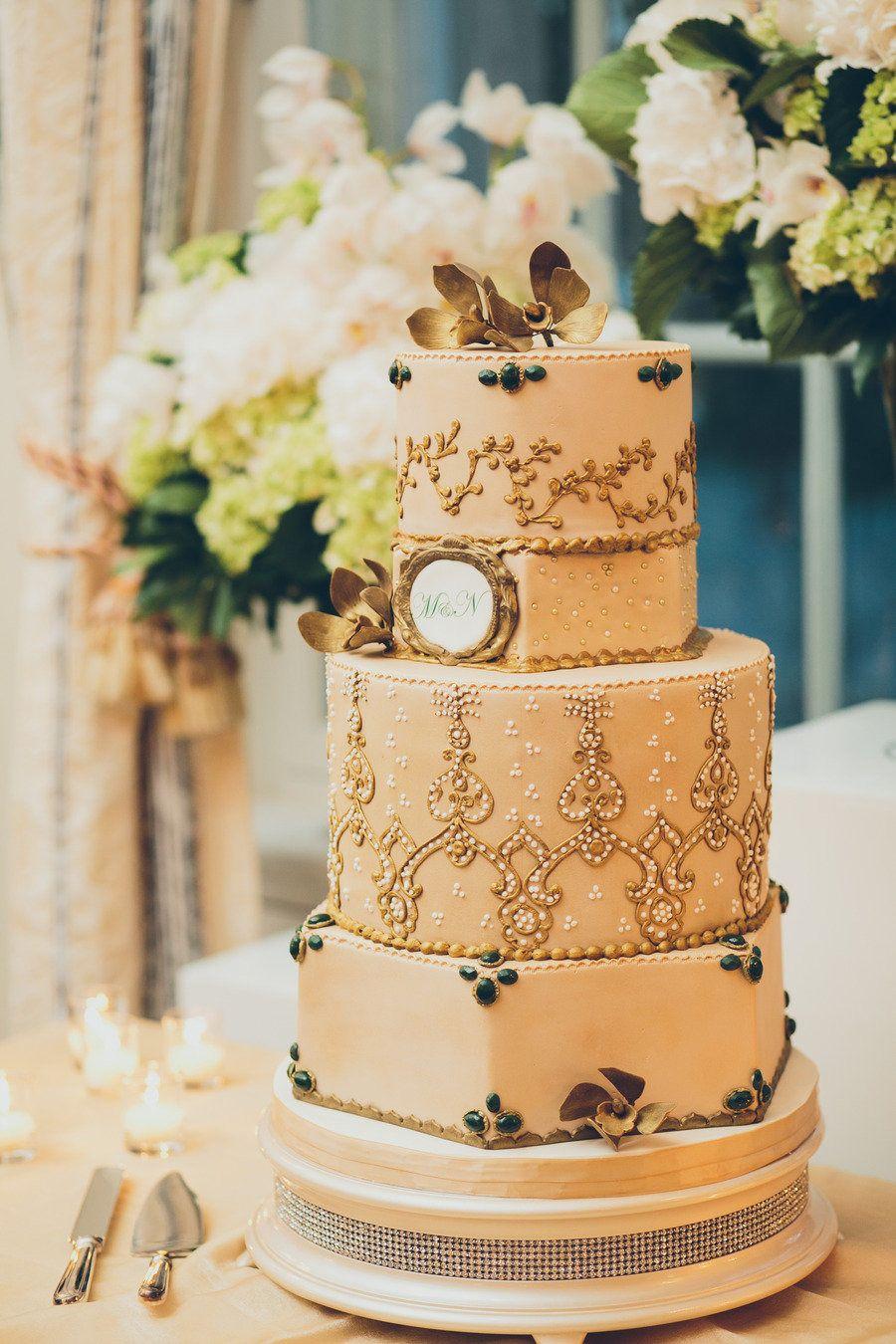 Intricate Wedding Cake | On SMP: http://www.StyleMePretty.com/little-black-book-blog/2013/07/10/edmonton-wedding-from-mango-studios-bella-figura/  Mango Studios