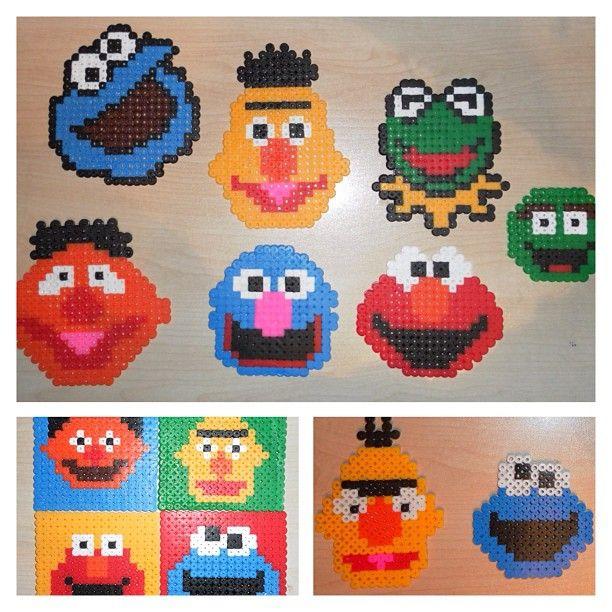 Personagens Da Rua Sésamo. Sesame Street Characters Hama