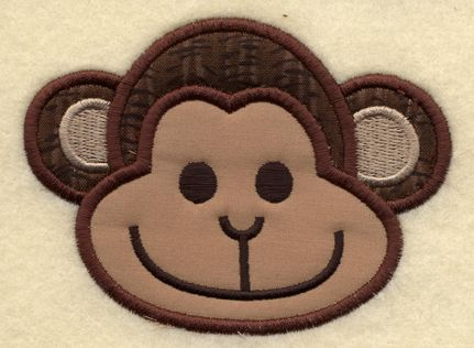 in the hoop applique designs applique monkey face embroidery