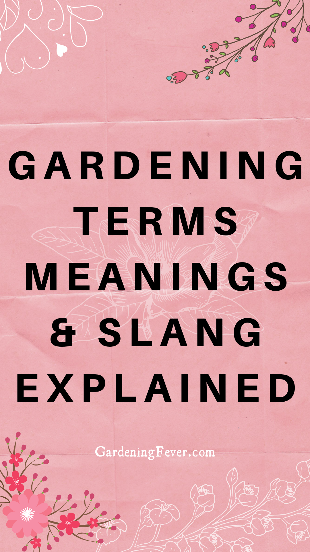 Gardening Terms Meanings Slang Explained Gardening Fever How To Become Successful Growing Organic Vegetables Gardening For Beginners