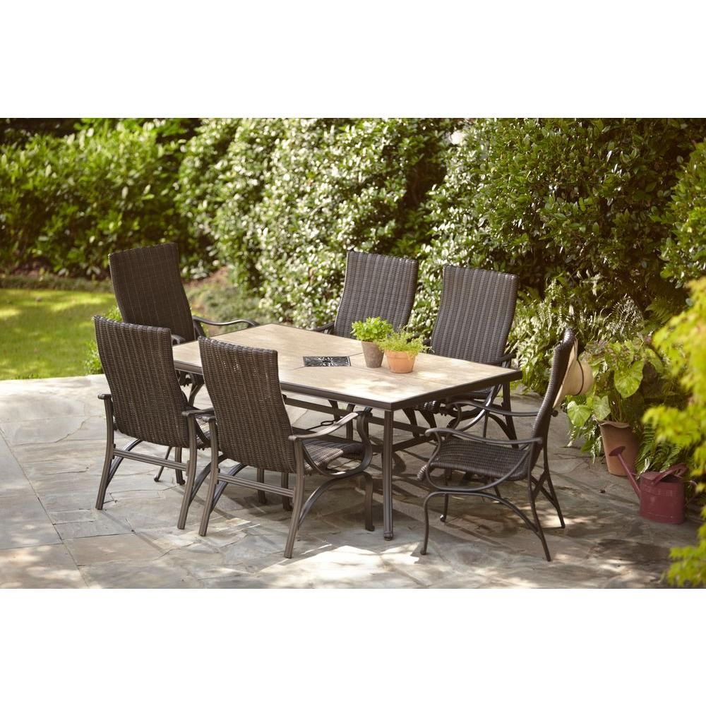 Superb Hampton Bay Pembrey 7 Piece Patio Dining Set