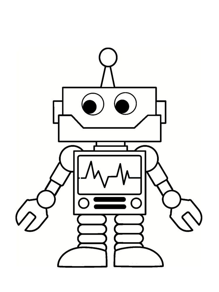 Coloriage Robot 30 Dessins à Imprimer Gratuitement Laser Rhpinterestca: Robot Coloring Pages For Toddlers At Baymontmadison.com