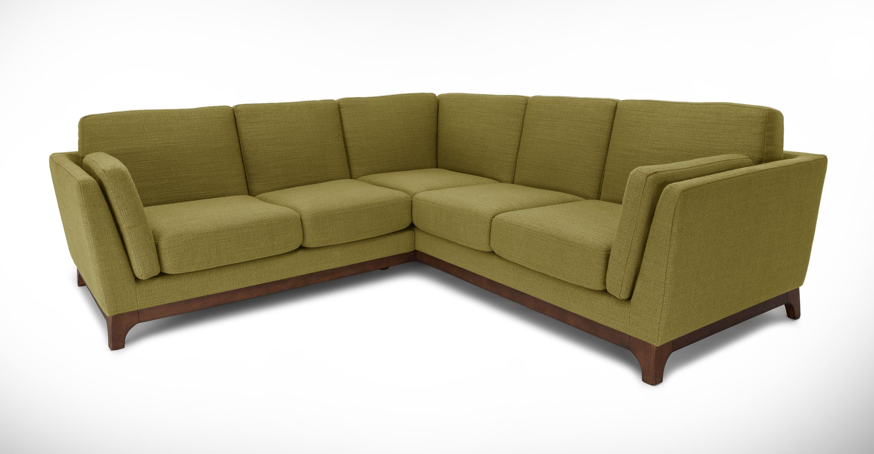 Green Sectional Sofa Solid Wood Legs Article Ceni Modern