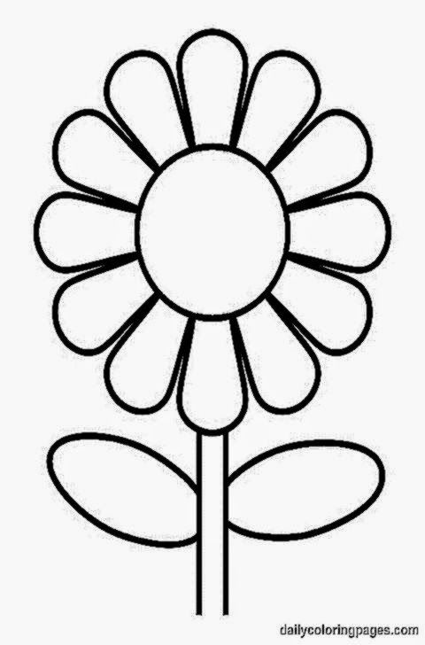 Coloring Picture Of A Flower Flower Coloring Sheets Printable Flower Coloring Pages Sunflower Coloring Pages Flower coloring worksheets kindergarten