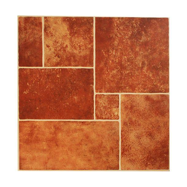 Piso toscana 45x45 cm rojo Loseta, Pisos y Textura