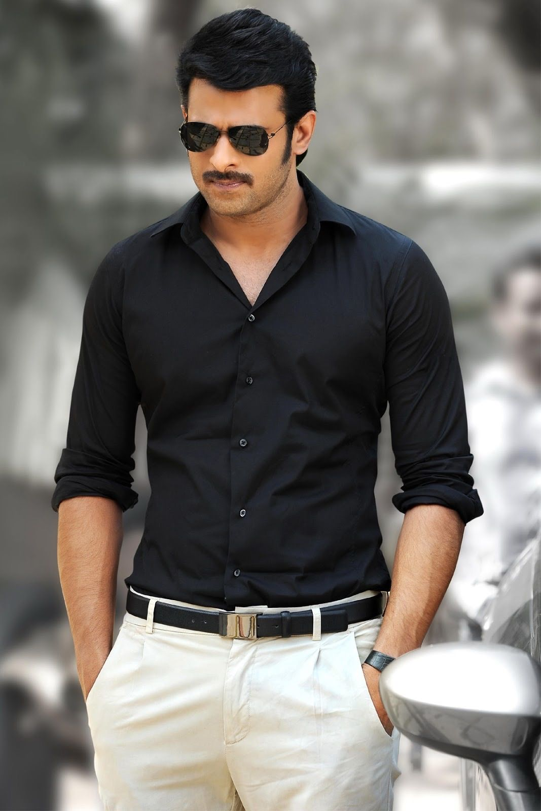 prabhas in black looking so hot!! | pranushka | pinterest