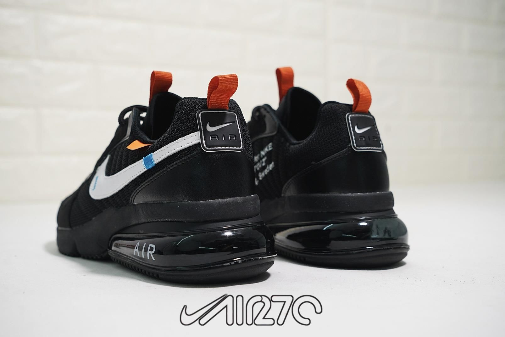 the best attitude 859f3 bb1e7 Off-White x Nike Air Max 270 Futura Black-White Orange 2018