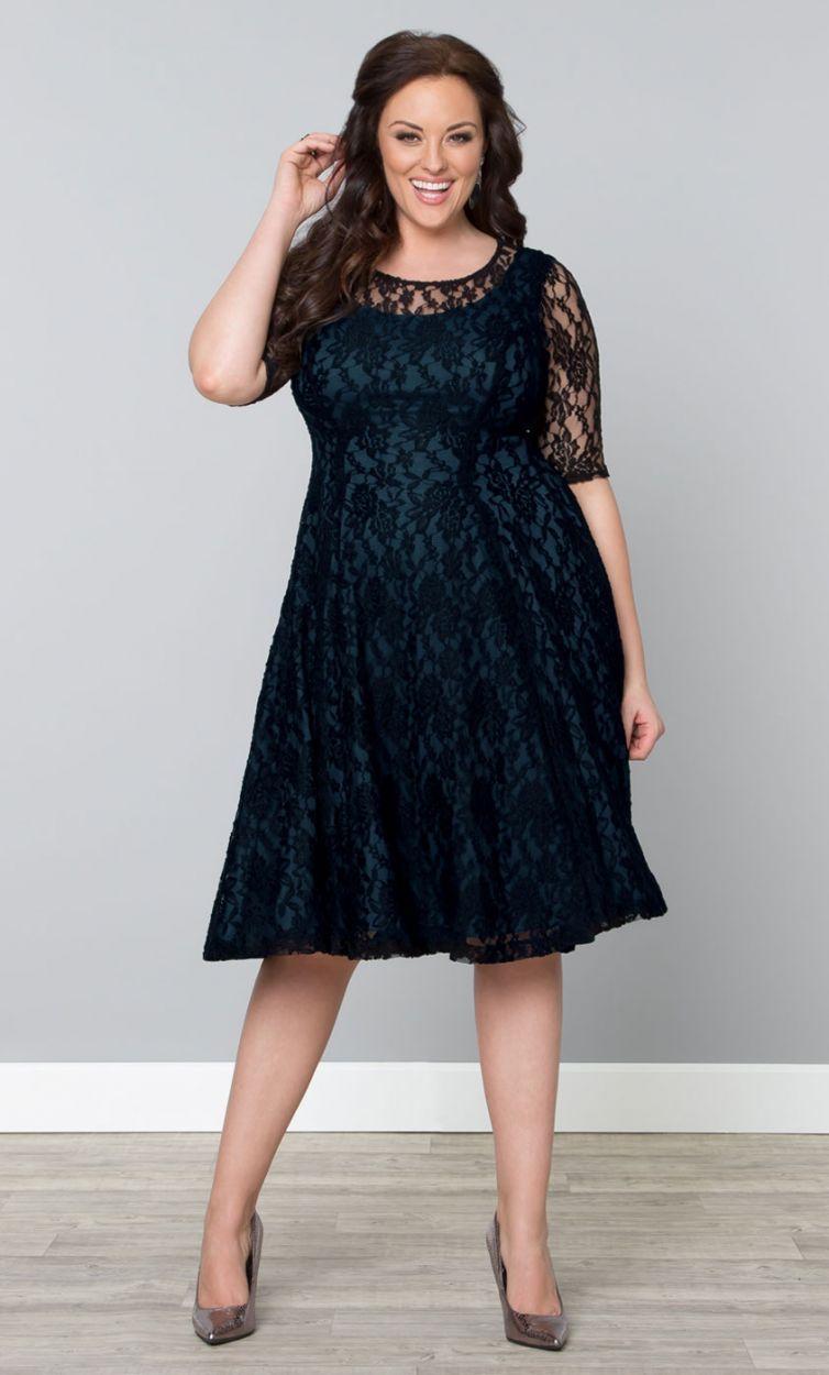 Black lace dress plus