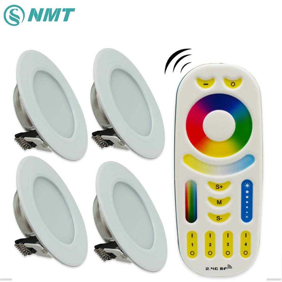 buy led panel 6w dimmable milight led panel light downlight ac85 ...