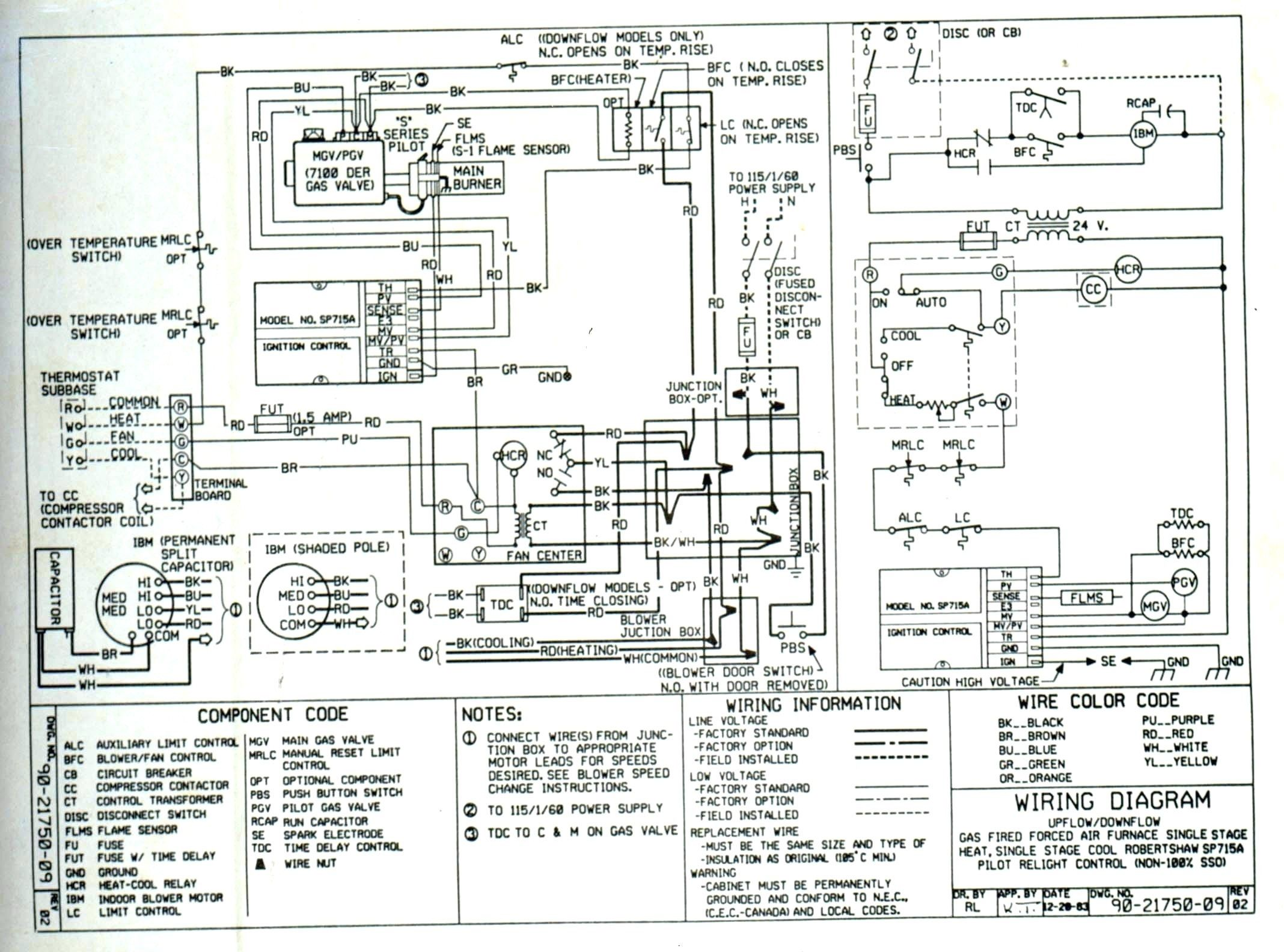Goodman Package Heat Pump Wiring Diagram from i.pinimg.com
