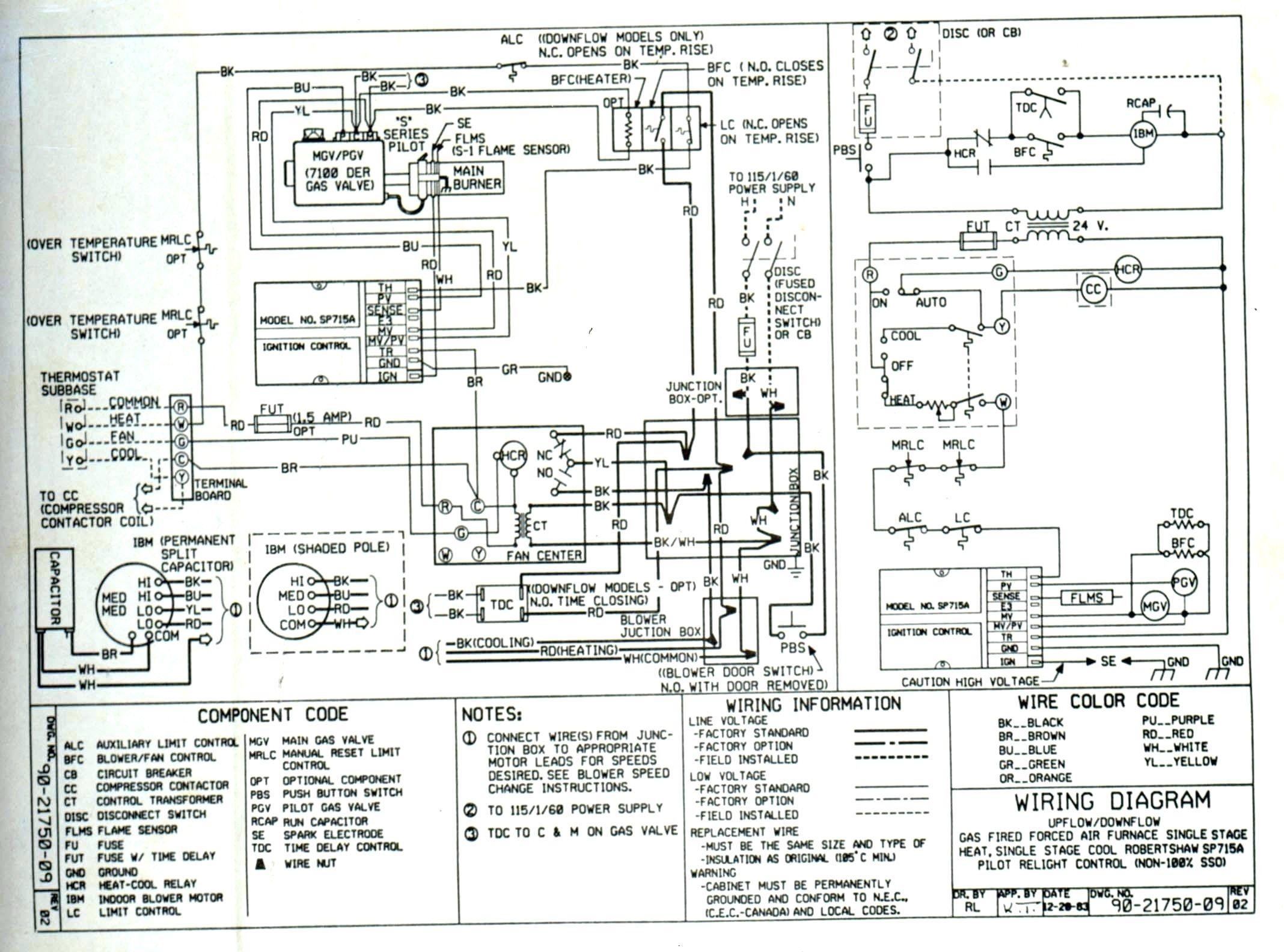 Goodman Package Unit Wiring Diagram Database