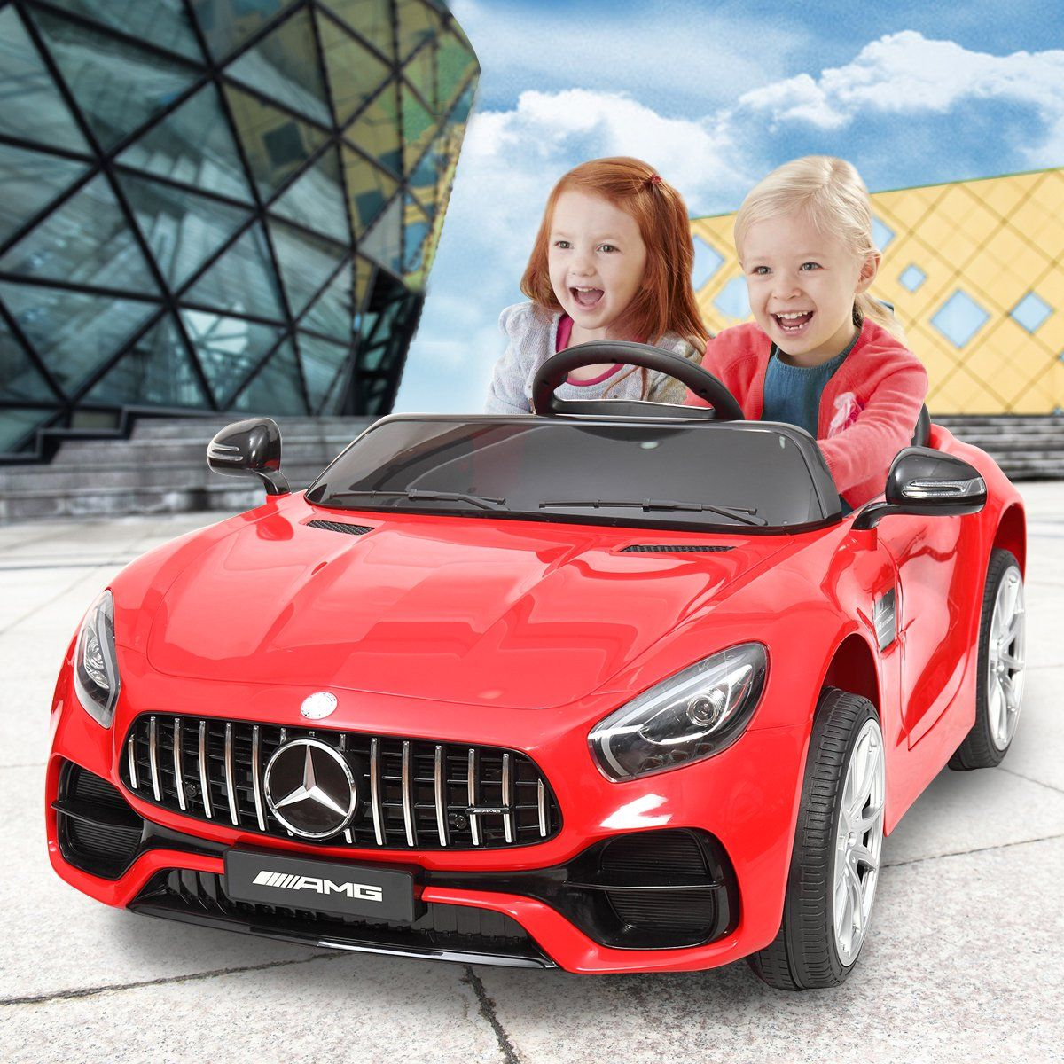 Tobbi Mercedes Benz Licensed 12V Electric Kids Ride On Car with Remote Control 3 Speeds MP3 Lights Red - Walmart.com in 2020 | Kids ride on, Kids ride on toys, Ride on toys
