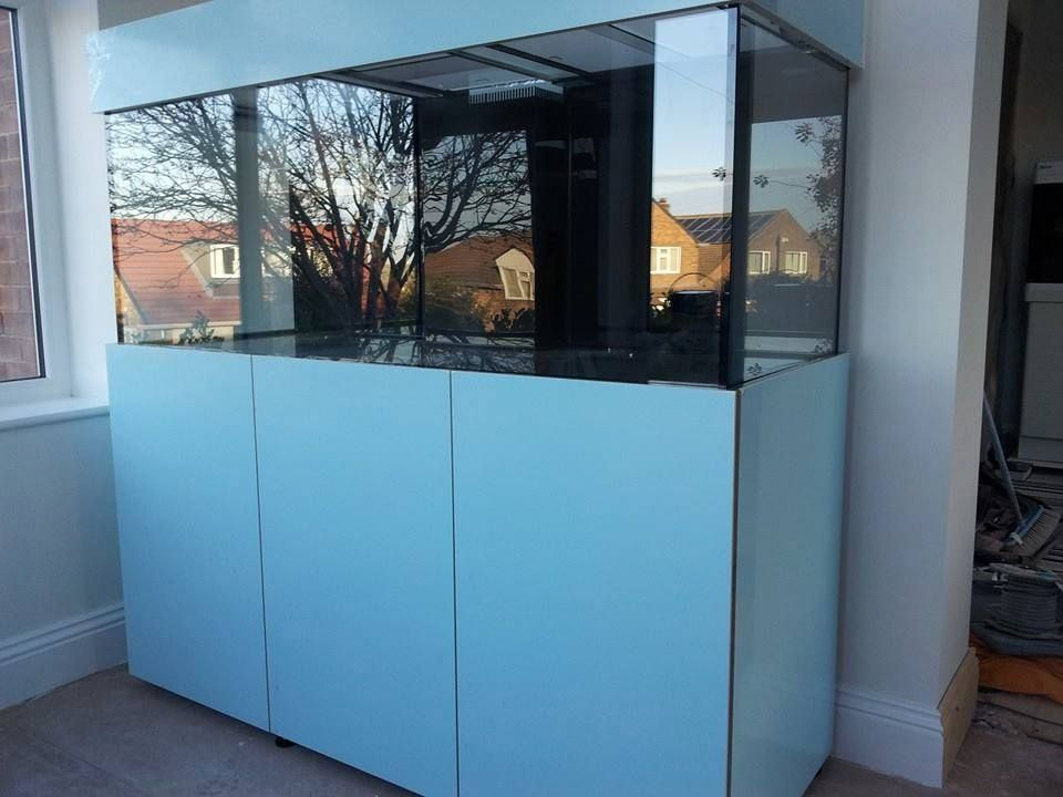 High gloss white steel stand aquarium bespoke build by for Fish tanks with stands