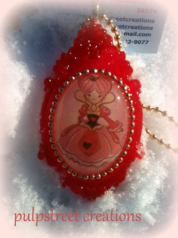 The Red Queen Kawaii Style Handmade Resin by PulpStreetCreations, $20.00