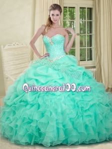 Remarkable Sweetheart Yellow Quinceanera Dress with Beading and ...