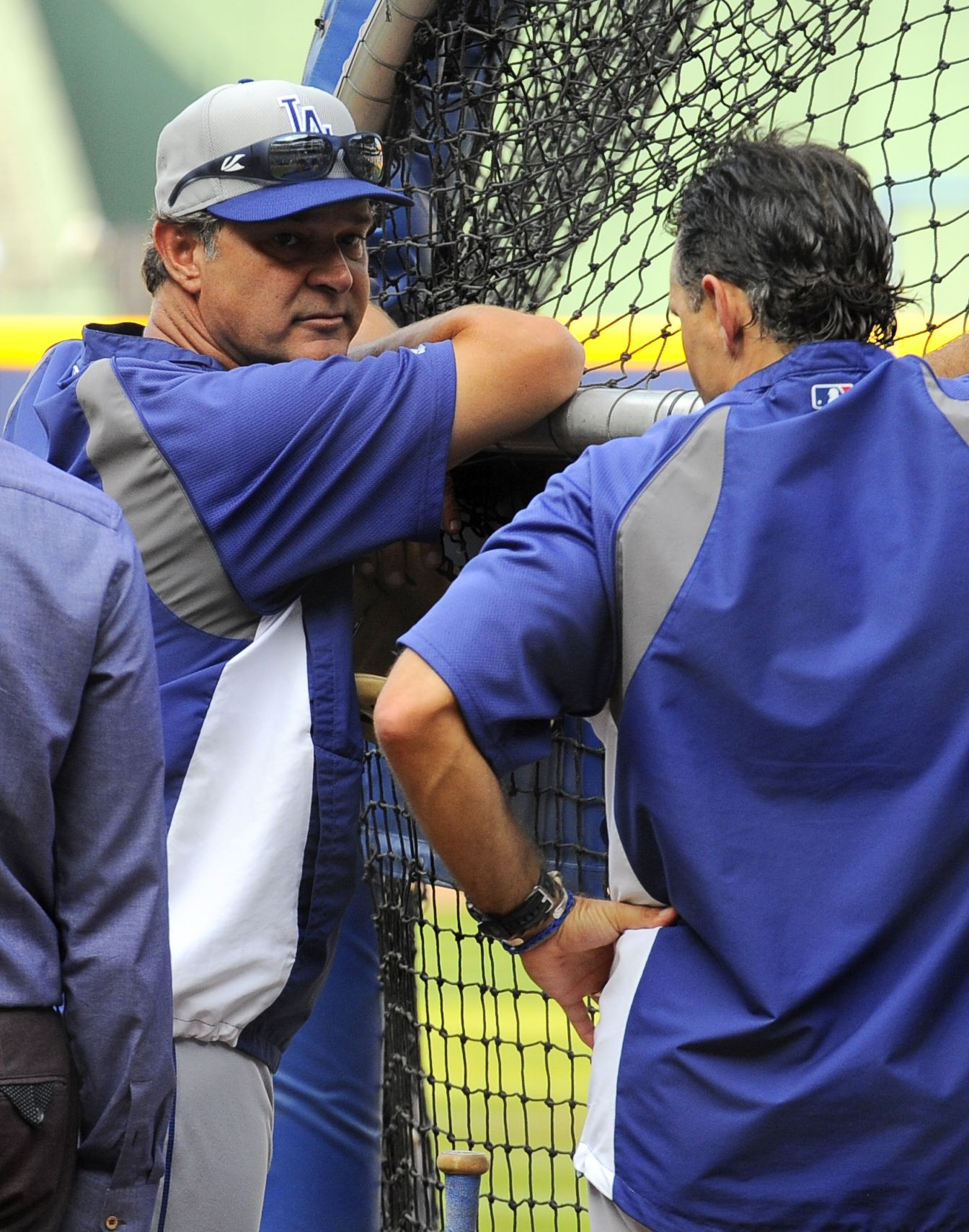 CrowdCam Hot Shot: Los Angeles Dodgers manager Don Mattingly watches batting practice prior to game two of the National League divisional series playoff baseball game against the Atlanta Braves at Turner Field. Photo by Dale Zanine