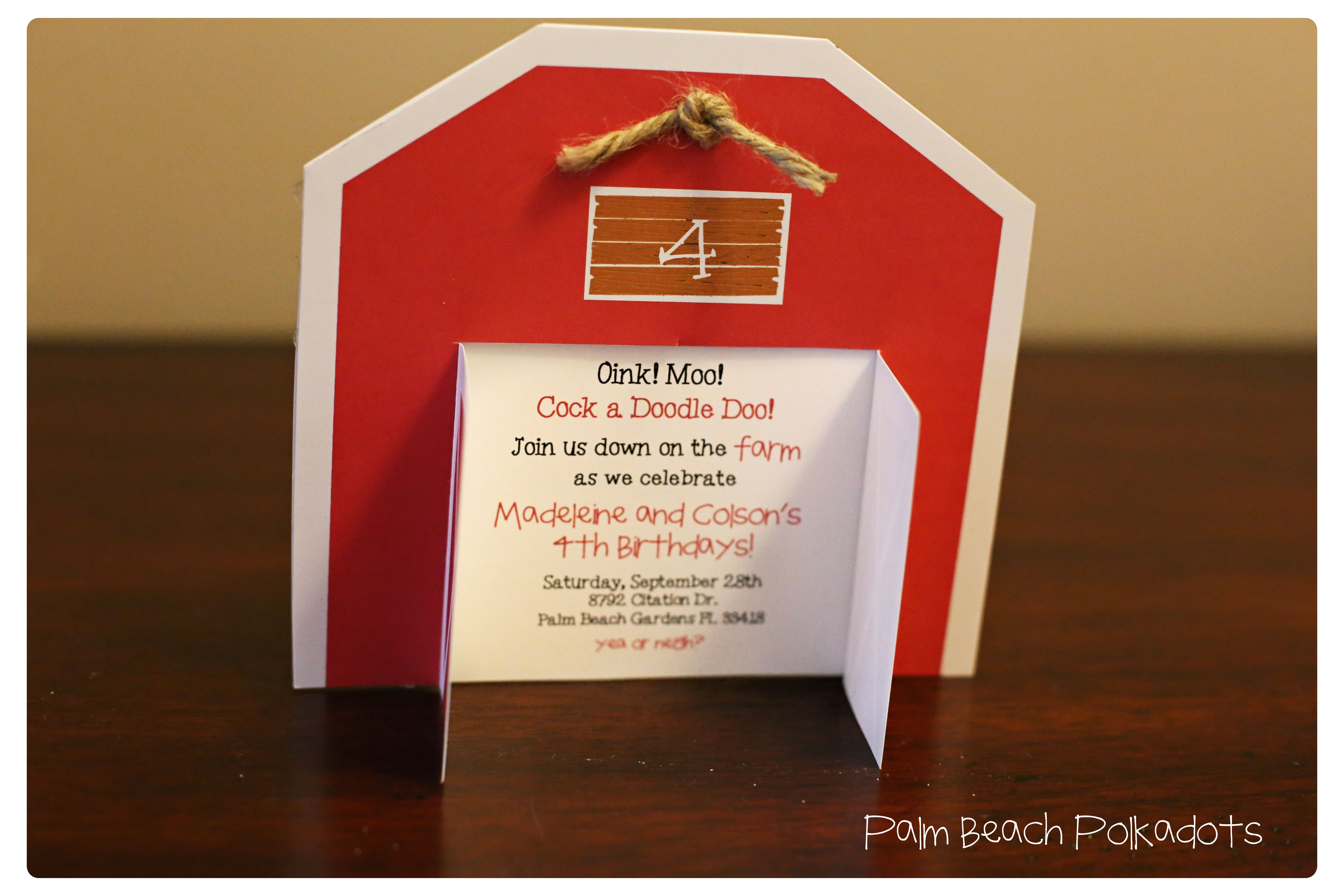 red barn birthday invitation for farm birthday party Contact