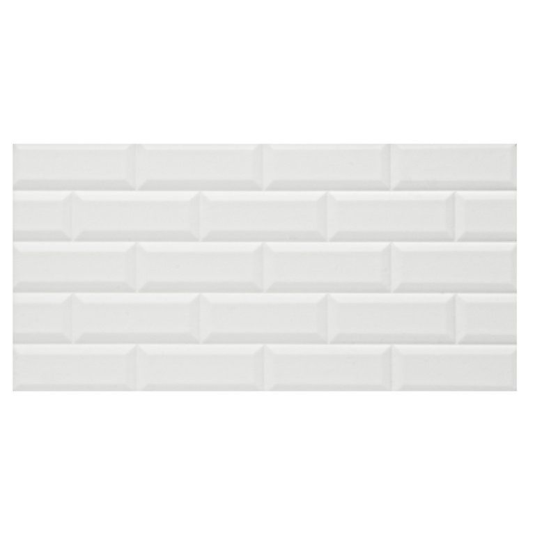 Millenium White Gloss Brick Effect Ceramic Wall Tile Pack Of 6 L 600mm W 300mm Diy At B Q Brick Effect Wall Tiles Wall Tiles Ceramic Wall Tiles