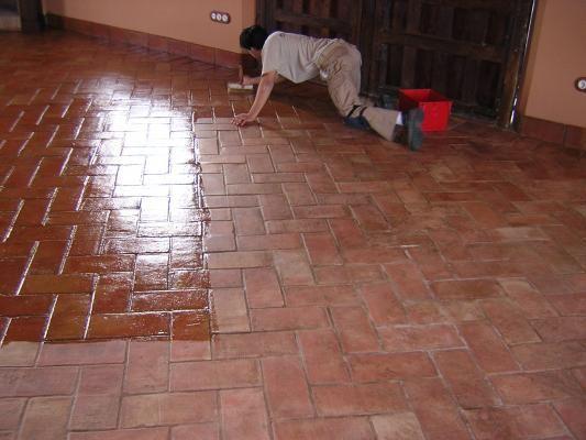 Lucer aplicaci n sencilla y secado r pido para suelos de - Suelos barro cocido ...