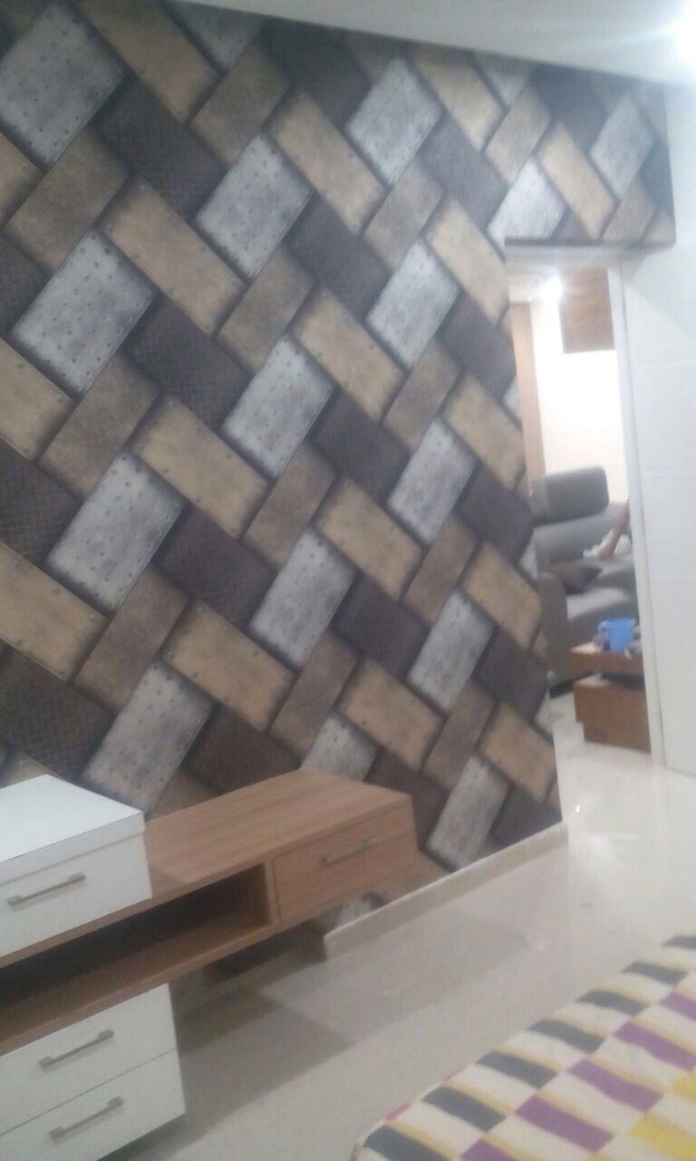 Geometrical Design Wallpaper Installed At Manikonda Hyderabad Designer Wallpaper Wallpaper Design