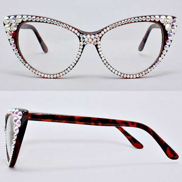 fa1d8ea1ca4df Handmade with Crystal Cat Eye glasses • Size   6
