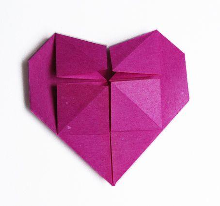 coeur en papier - tête à modeler | origami, heart origami and