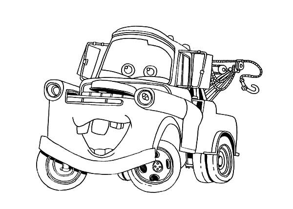 mater tow mater going around town coloring pages tow mater going
