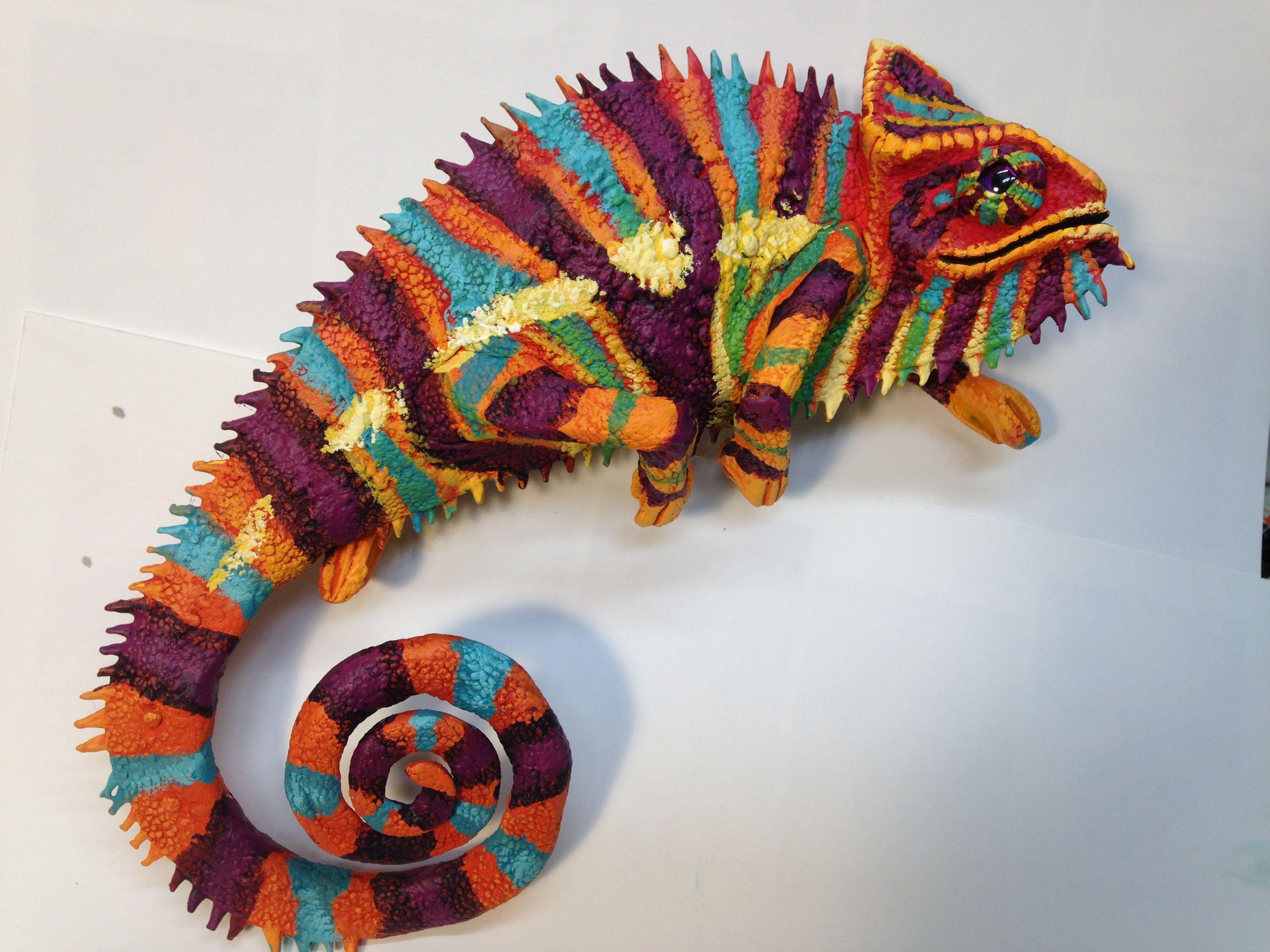 paper mache chameleon paper me pinterest paper mache papier mache and crafty. Black Bedroom Furniture Sets. Home Design Ideas
