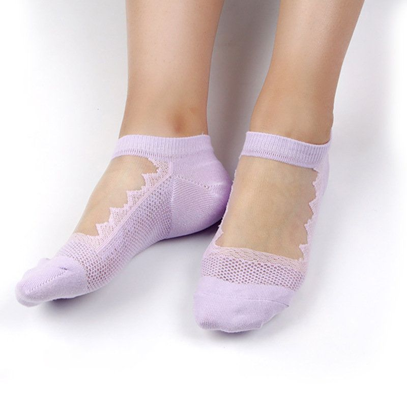 2020 Fashion Womens Cotton Lace Non Slip Invisible Liner