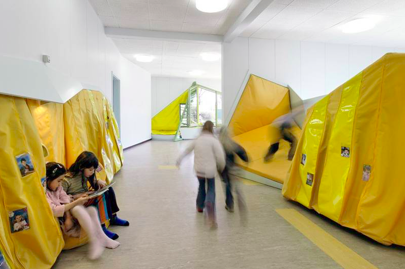 New learning theories make their way into designing school interior