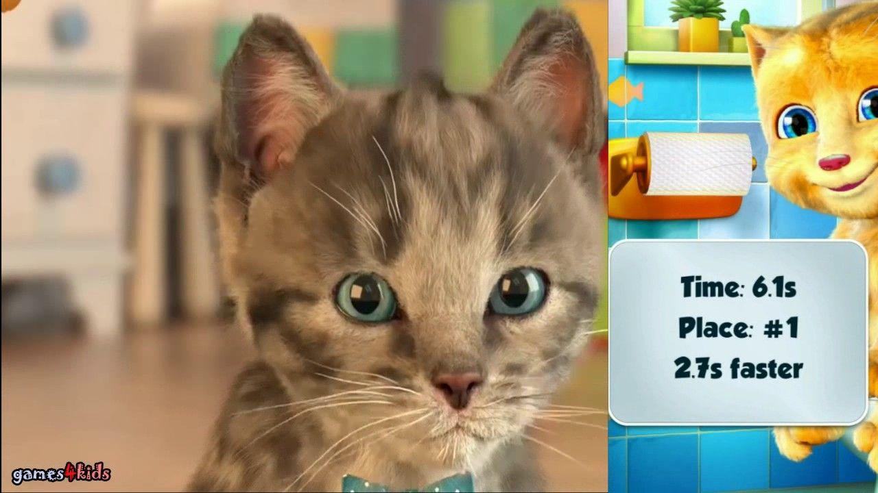 Little Kitten My Favorite Cat Vs My Talking Ginger Funny Virtual Cat G Little Kittens Kitty Games My Talking Ginger