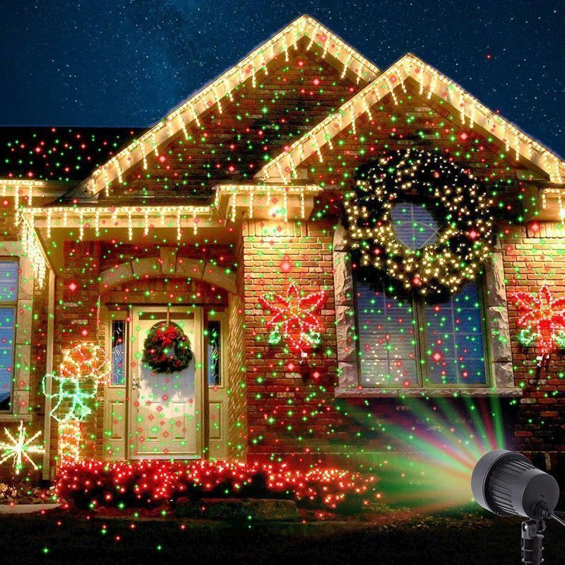 Christmas Laser Fairy Light Projection Outdoor Projector Decoration Outdoorchristmaslights Christmaslightdecorations