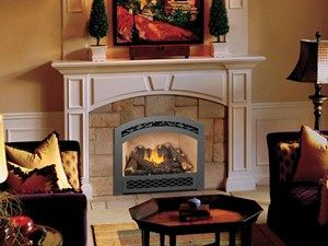 The Fireplace Xtrordinair 864 HO (High Output) gas fireplace. Available from Rich