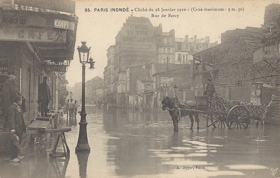 paris inond 1910 51 rue de bercy iteanna paris paris city paris photography. Black Bedroom Furniture Sets. Home Design Ideas