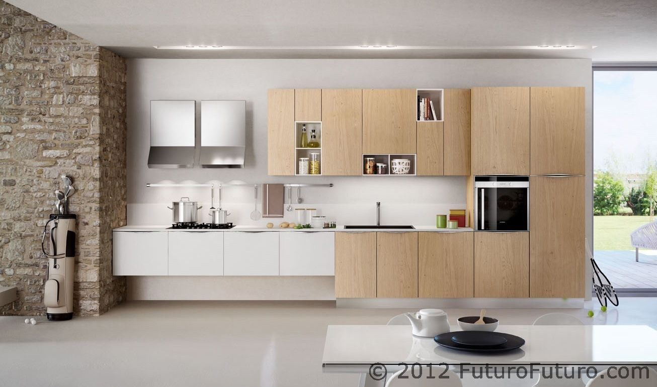 Exposed Cabinet Inserts Arredo3 Asia Kitchen Futuro Futuro Ravenna