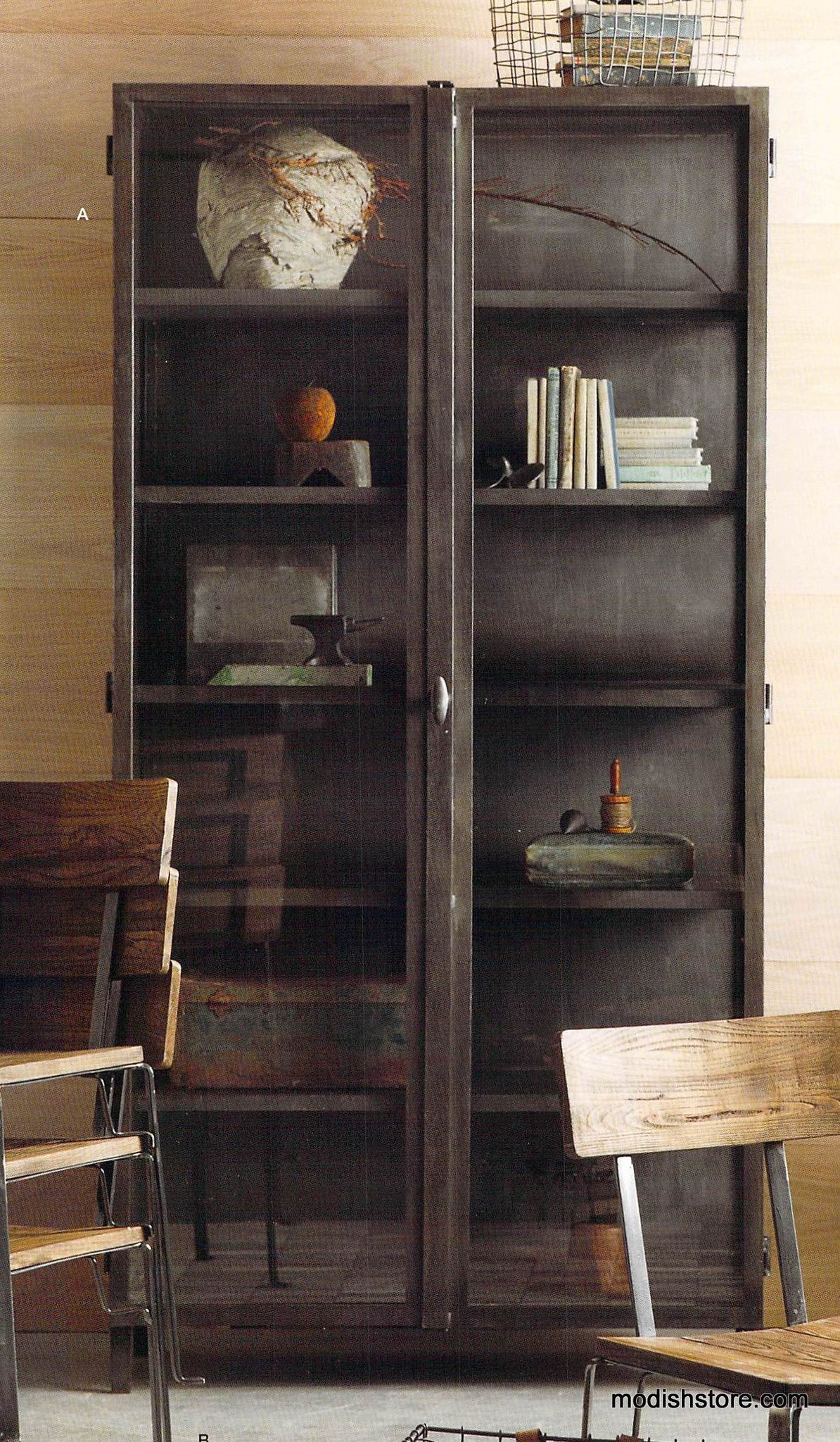 Vitrine Industrial Roost Curator's Cabinet - Six Shelf | Unique Modern Furniture