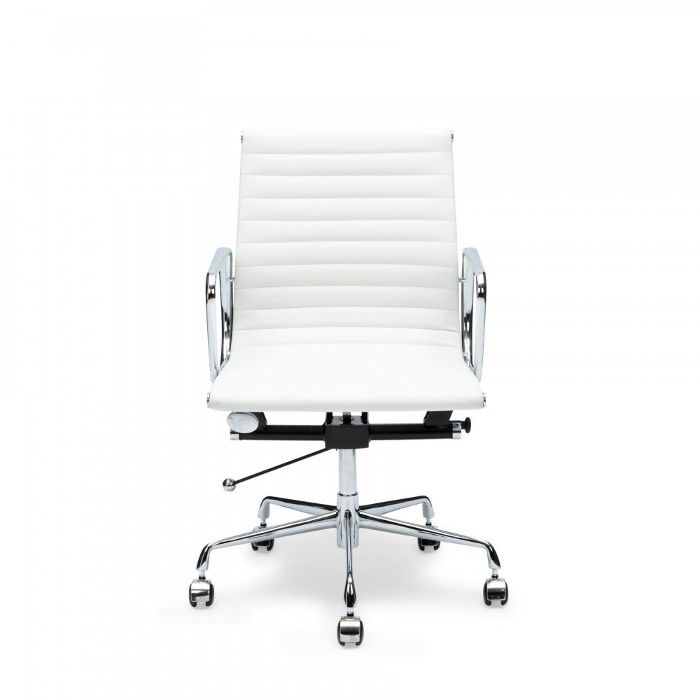 Eames White Short Back Ribbed Style Office Chair