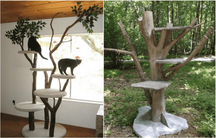Klettergerüst Für Katzen Selber Bauen : Kratzbaum selber bauen ideen und bauanleitungen archzine